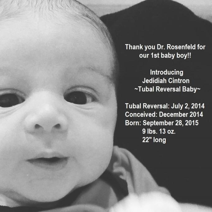 Tubal Reversal Baby From Staton Island New York