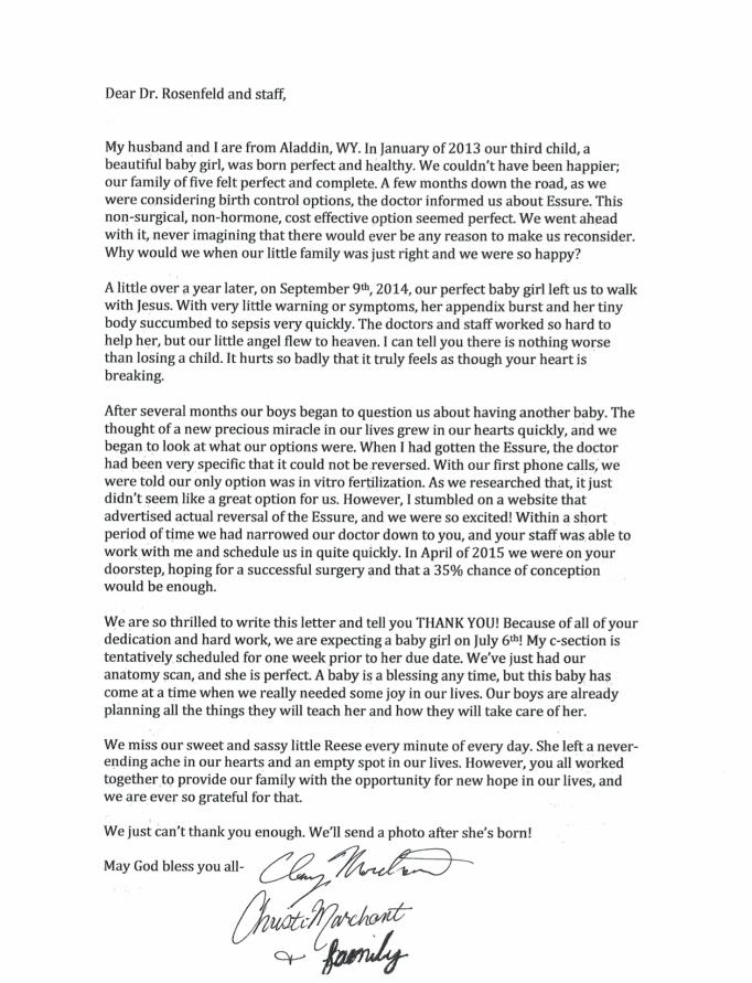 Tubal Reversal Testimonial from Aladdin, WY